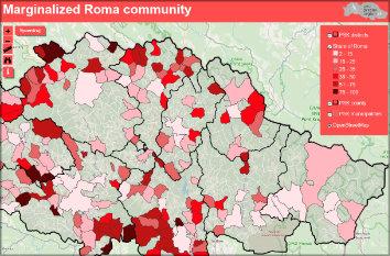 Marginalized Roma community